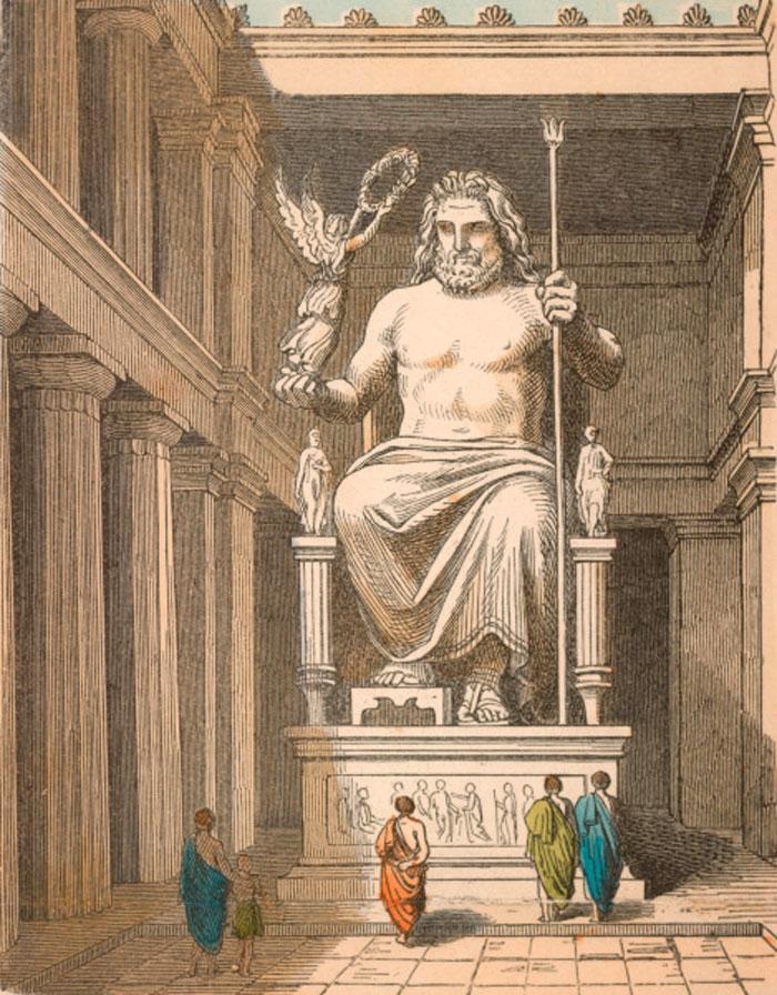 Зевс статуя на троне