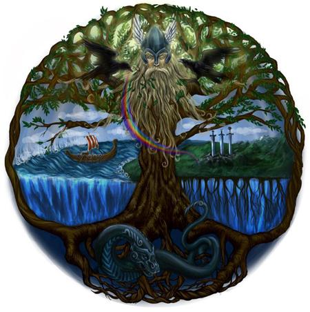 древо 9 миров иггдрасиль