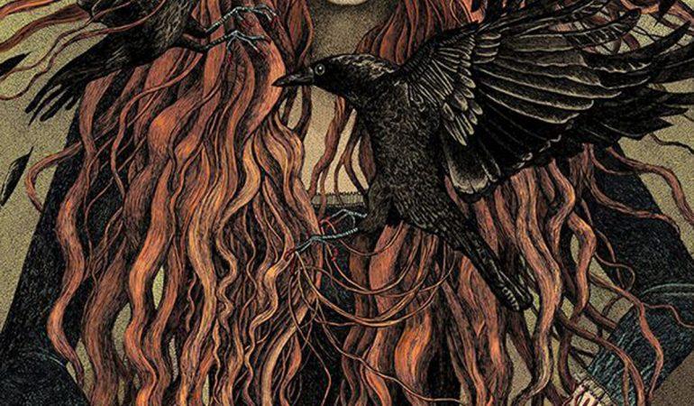 девушка и вороны