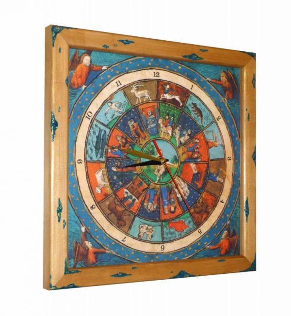часы деревянные зодиак