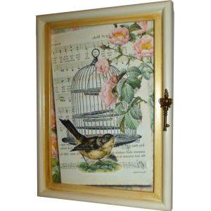 ключница птичка и ноты
