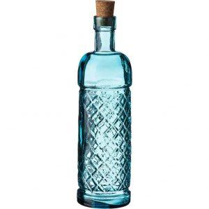 бутылка из голубого стекла