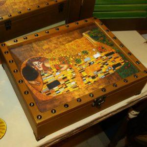 щкатулка деревянная климт
