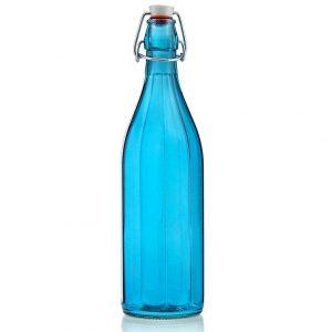 бутылка для зарядки воды голубая