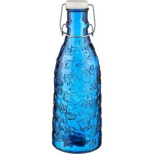 бутылка из синего стекла