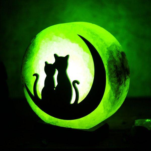 соляная лампа кошка