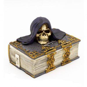 шкатулка книга с черепом