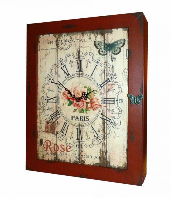 часы шкаф настенные Розы