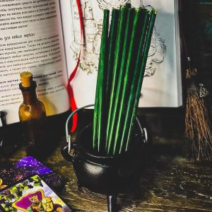 свеча зеленая из воска
