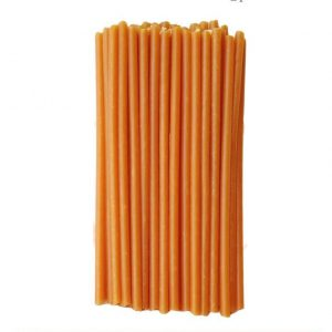 оранжевая восковая свеча