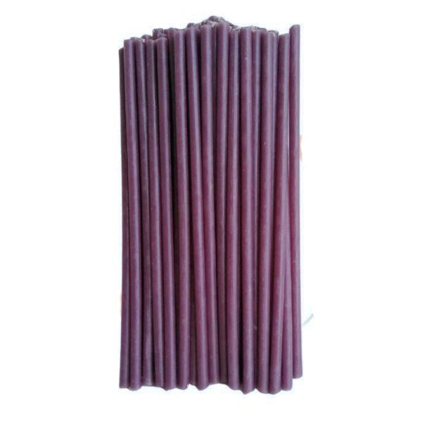 фиолетовая восковая свеча