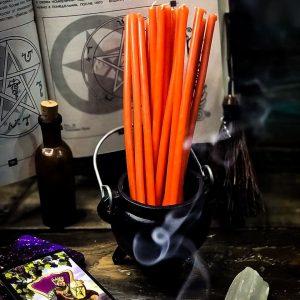 свеча оранжевая из воска