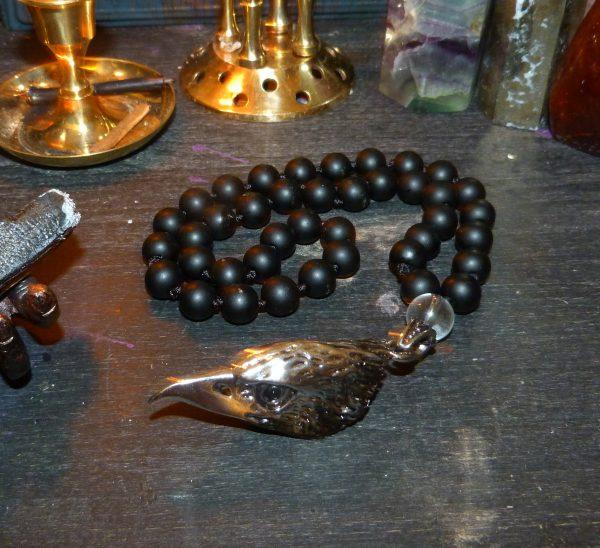 четки из черного агата