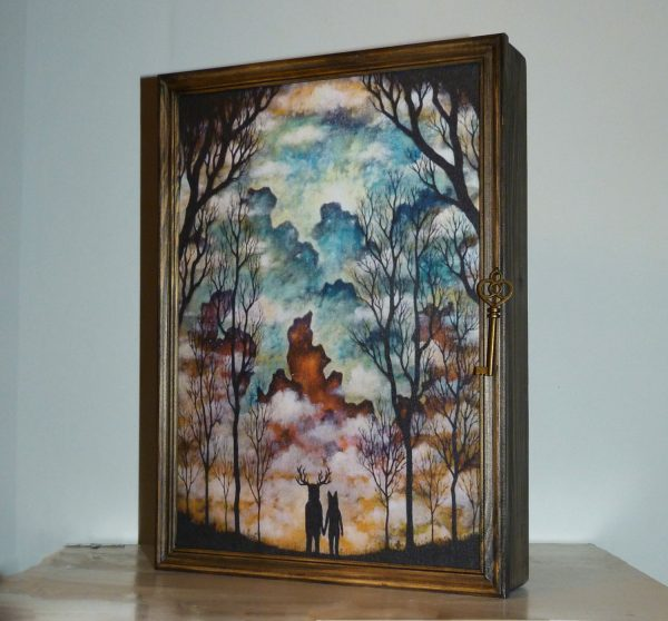 ключница шкаф дремучий лес