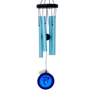 Музыка ветра 4 трубки Вишудха чакра 68 см голубая